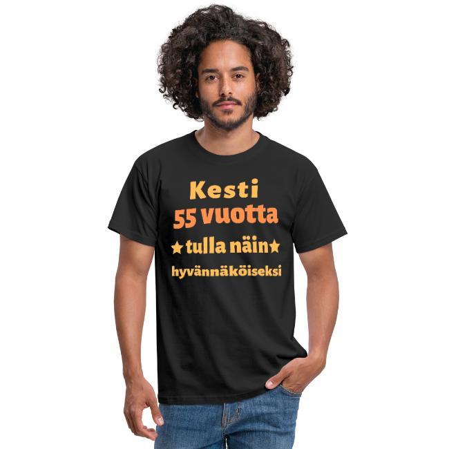 Miesten t-paita - Kesti 55 vuotta tulla näin hyvännäköiseksi Image