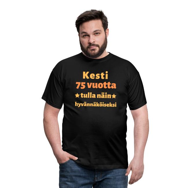 Miesten t-paita - Kesti 75 vuotta tulla näin hyvännäköiseksi Image