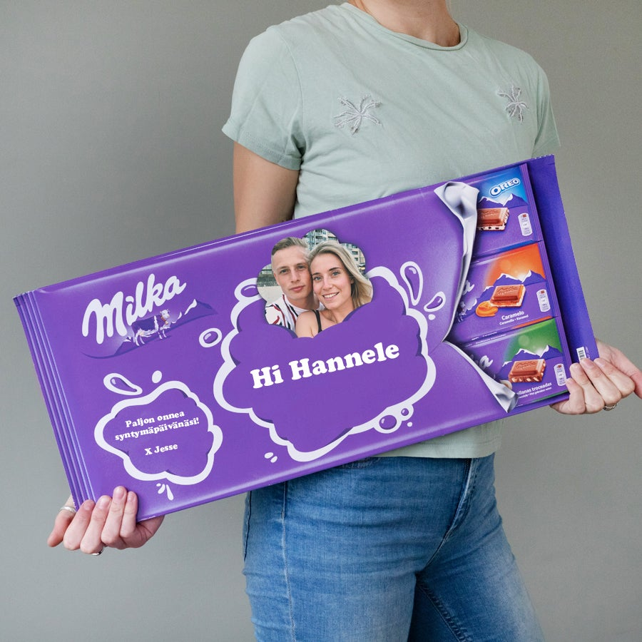 Yksilöitävä Jätti-Milka suklaalevy nimellä Image